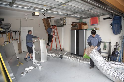 Most residential air conditioning duct systems are not designed to be cleaned.